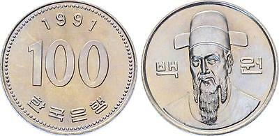 COIN Korea 100 Won 1991 KM# 35