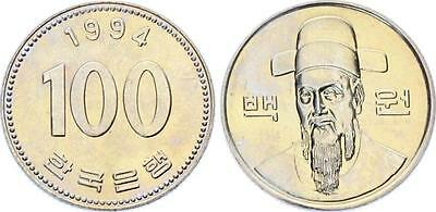 COIN Korea 100 Won 1994 KM# 35.2 BUNC