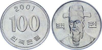 COIN Korea 100 Won 2001 KM# 35