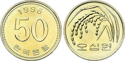 COIN Korea 50 Won 1995 KM# 34 BUNC