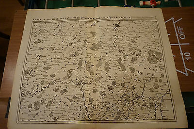 Carte- Plan Cambray, Bappaumes, St Quentin, Perone ; Eugène Henry Fricx 1712