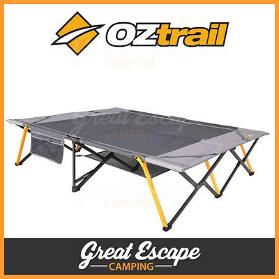Oztrail Easy Fold Stretcher Queen Camping Spare Fold Out Bed