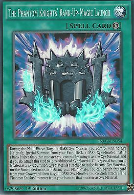 3X Yugioh Super Rare The Phantom Knights' Rank-Up-Magic Launch Inov-En054 1St Ed