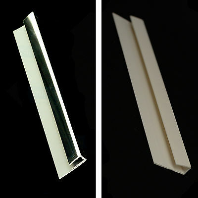 End Cap Universal Trim in White or Chrome for 5mm Bathroom Cladding Panels
