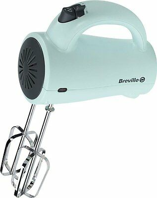 Electric Hand Mixer Pistachio Green 5 Speed Whisk Eggs Cake Cream Mix Breville