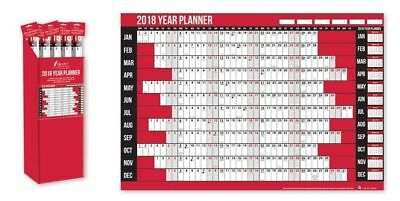 2018 YEAR WALL PLANNER A1 SIZE LAMINATED FOR WORK/HOME/OFFICE UNMOUNTED Calendar