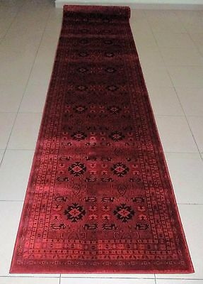 New Persian Design Afghan High Quality Floor Hallway Runner Rug 80X400Cm
