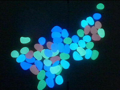 Luminous Glow In Dark Pebbles Stones Rock Marine Tropical Aquariums Fast Post