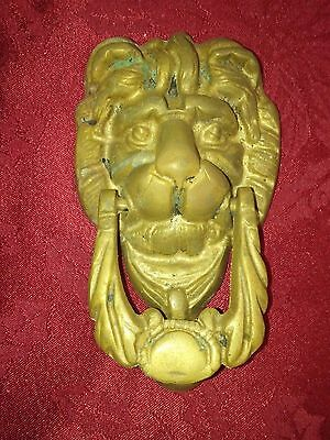 Vtge Solid Brass Lion S Head Door Knocker.