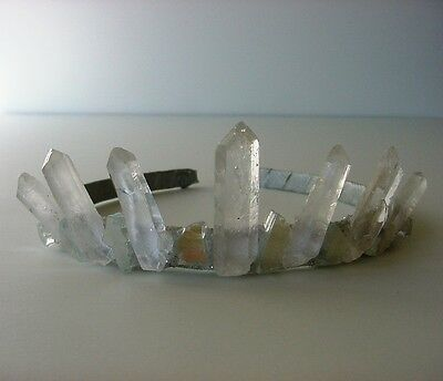Quartz Crystal Fairy Crown, Ice Queen, Goddess, for wedding, prom, festival