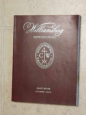 1976 WILLIAMSBURG REPRODUCTIONS Trade Catalog FURNITURE Craft House