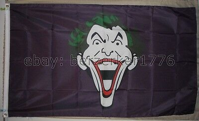 Superman 3/'x5/' vertical Black Flag Banner DC Comics batman Joker USA Shipper