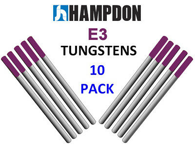 4.0mm - Thoriated Replacement TIG Tungsten electrodes. Pack of 10 Purple - 402WR