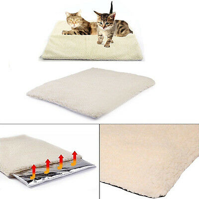 Pet Dog Cat Warm Fleece Self Heating Cushion Bed Soft Rug Mattress Thermal