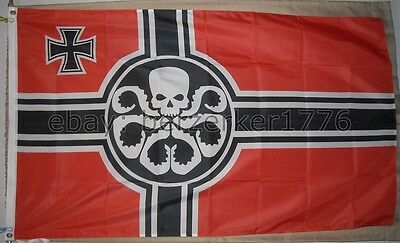 Hail Hydra 3'x5' German Flag Banner Marvel Shield Avengers Capt. America - USA