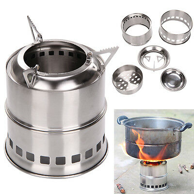 Portable Outdoor Wood Gas Burning Backpacking Camping Picnic Party Alcohol Stove