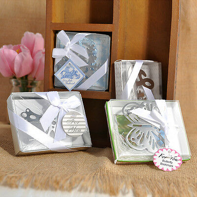 New Lovely Cute Snowflake Creative Exquisite Alloy Bookmark With Ribbon Box Gift
