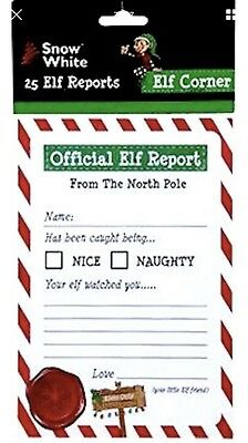 Elf On The Shelf Report Sheets x25 Official Santa Kids Christmas Count Down Idea