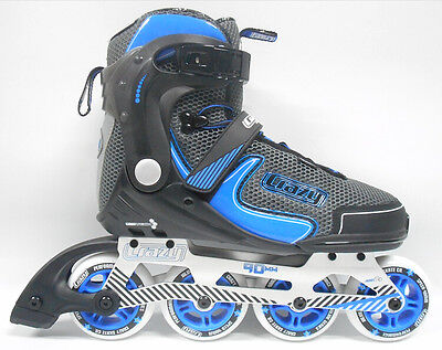 Crazy Skates Quality 678 Inline Skates  - with FREE PROTECTIVE TRI-PACK!