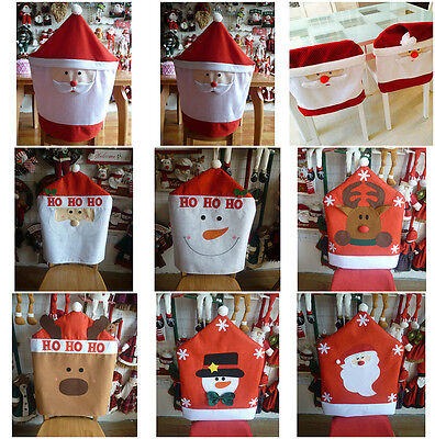 New Christmas Santa Clause Elk Snowman Chair Cover Dinner Table Party Decoration