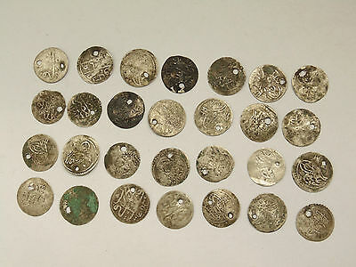 Lot 28 Antique Ottoman Empire Turkish Islamic Silver Akce Akche Coins #3