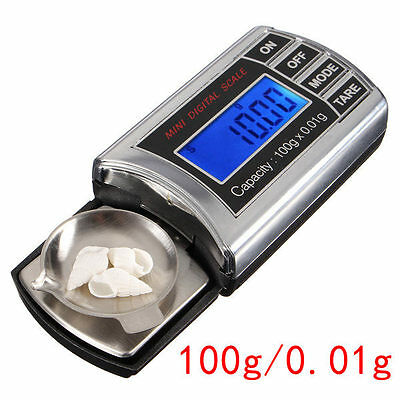 100g x 0.01g Mini Pocket Jewelry Gold Digital Gram Balance Weight Scale