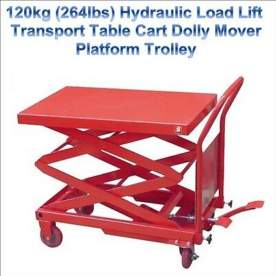 120kg Hydraulic Load Lift Transport Work Table Cart Dolly Mover Platform Trolley