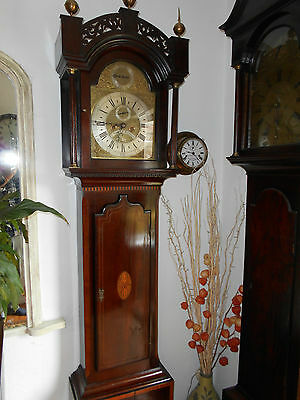 Georgian Brass Faced Eight Day Grandfather Clock