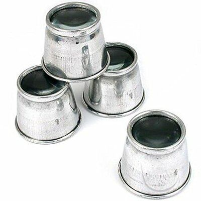 FindingKing 10X Metal Eye Loupes Lot of 4 Jewelers Magnifier Tools