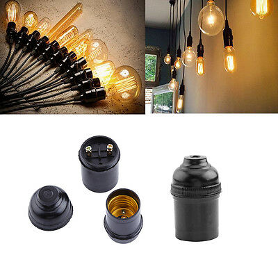 5PCS E27 Base Socket Bulb Lamp Holder Pendant Hanging Vintage Edison Screw Cap L