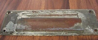 "Vintage Brass DOOR mail Slot 8"" x 2 1/2"""