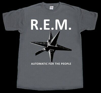 R.e.m. Automatic For The People 92 Alternative Rock U2 New Grey Chracoal T-Shirt