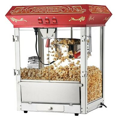 Great Northern Popcorn Company - Red Old Time Popcorn Popper Machine- 8 Ounce