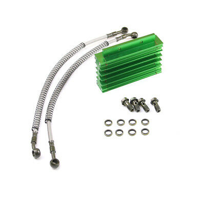 Green CNC Oil Cooler FOR Motorcycle Pit Dirt Bike Thumpstar Atomik Motovert au