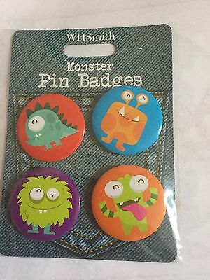 Monster Badges Set 100% to charity