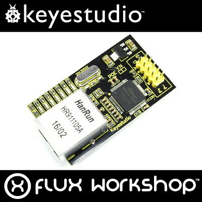 Keyestudio W5100 Ethernet Breakout Module KS-148 RJ45 SPI Arduino Flux Workshop