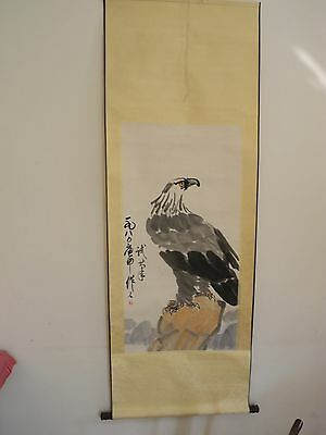 Excellent old Chinese Scroll Painting By Wu Zuoren: eagle V06