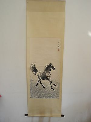 Excellent old Chinese Scroll Painting By Xu Beihong: horse V20