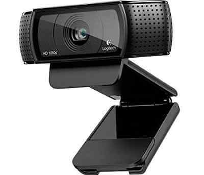 Logitech C920 Full HD Pro USB 1080p Webcam Video Chat Record Vibrant Microphone