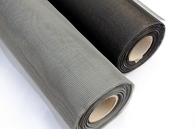 Flyscreen Insect Mosquito Flies Bug Mesh 1.2m wide Fly Screen Black Grey White
