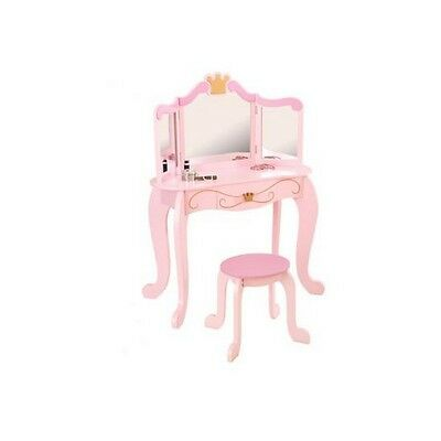 Incroyable Kidkraft Girl Pink Kids Princess Vanity Mirror Stool Makeup Table Set Wood  76123