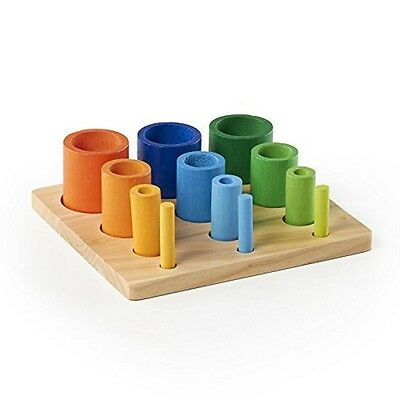 Guidecraft Nesting Sort Stack Cylinders G6729 Toys