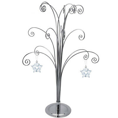 For Swarovski Christmas Ornament 2019 Crystal Annual Snowflake Star Ball Stand