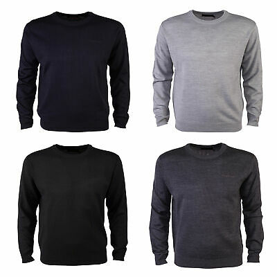 7134b733a94c73 PIERRE CARDIN MENS Crew Neck Knitted Jumper New Long Sleeve Sweater ...