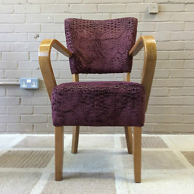 Vintage Purple Retro Cocktail Chairs X 4 - Sold For Restoration