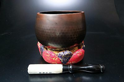 "Free shipping Japanese Buddhist bell set 17cm/6.6"" Copper Rin good sound Japan"