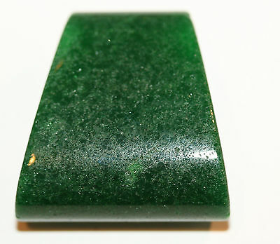 AAA  Big Trapezoid  Green Jade Pendant35mmmm Natural Gemstone Big Hole