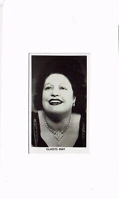 Gladys Hay Theatre and TV actress 1950s Hand signed 2.5  x 1.5 inch Photograph