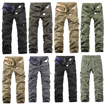 32 34 36 Combat Men's Cotton Cargo ARMY Pants Military Camouflage Camo Trousers
