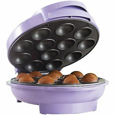 Brentwood Purple TS-254 Cake Pop Maker Purple Nonstick Coating Easy to Clean